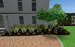 3d rendition of the front of a home