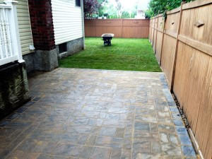 Brickwork done in combination with lawn service.