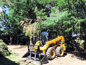 Bobcat on the job for some landscape architecture
