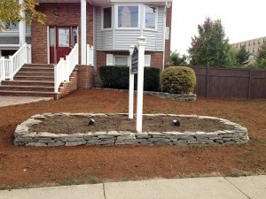 Before picture of commercial landscaping